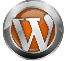 Wordpress logo orange
